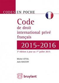 Code de droit international privé français 2015-2016