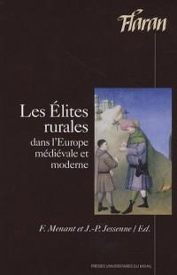 Les Elites Rurales dans l'Europe médiévale et moderne