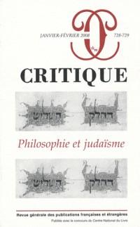 Critique, N° 728-729 : Philosophie et judaïsme