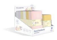 Presentoir Plein 48 Carnets Postaux Pastel 6 Coul 2 Formats