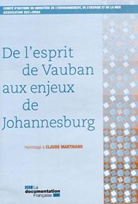 De l'esprit de Vauban aux enjeux de Johannesburg