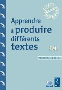 Apprendre à produire différents textes CM1