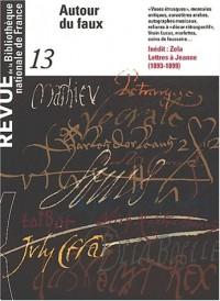 Revue de la bibliothèque nationale de France, numéro 13 : Autour du faux