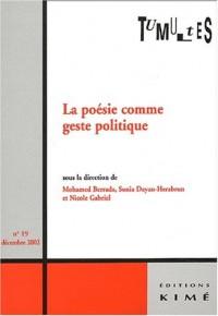 Tumultes N° 19 Décembre 2002 : La poésie comme geste politique