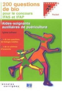 200 questions de bio pour les concours IFAS et IFAP