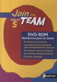 JOIN THE TEAM 5E DVD-ROM RESSOURCES POUR LA CLASSE Livre scolaire