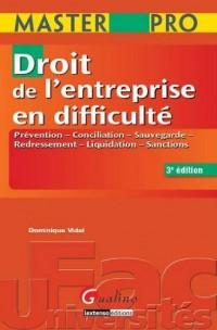 Droit de l'entreprise en difficulté : Prévention, conciliation, sauvegarde, redressement, liquidation, sanctions