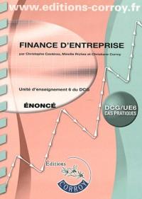 Finance d'Entreprise Enonce - Ue 6 du Dcg (Pochette)