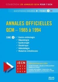Annales officielles QCM 1985 à 1994 TOME 2