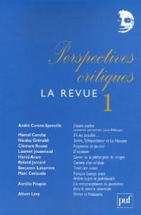Perspectives critiques, La Revue, N° 1