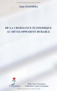 De la croissance économique au développement durable