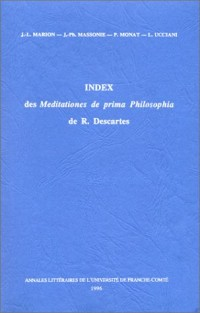 Index des Meditationes de Prima Philosophia de R. Descartes