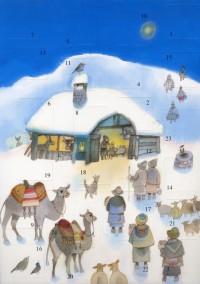 Calendrier de l Avent Nativité Sous la Neige Gantschev
