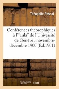 Conferences Theosophiques a l'