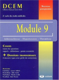 Module 9 : Athérosclérose-Hypertension-Thrombose