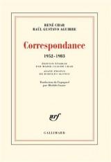 Correspondance: (1952-1983)