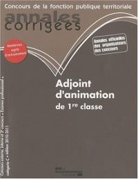Adjoint d'animation de 1re classe 2010-2011 - Catégorie C - Edition 2010-2011