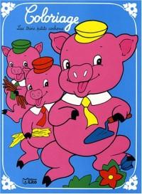 Un conte à colorier : les 3 petits cochons
