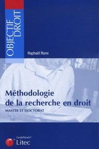Méthodologie de la recherche en droit : Master et doctorat (ancienne édition)