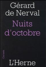 Nuits d'octobre [Poche]