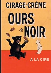 Carnet ligné Affiche Cirage-Crème Ours Noir
