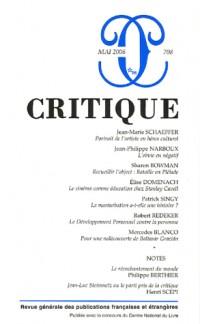 Critique, N° 708 :