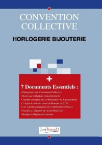 3240. Horlogerie bijouterie Convention collective