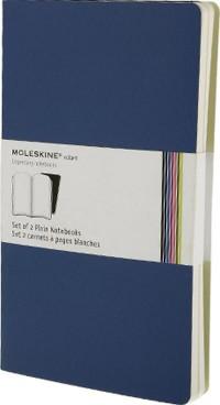 Carnet Volant blanc - Grand format - Set de 2 pièces - Bleu - Couverture souple - 13 x 21 cm