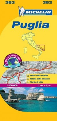 Michelin Map Italy: Puglia 363