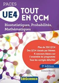 UE4 Tout en QCM - PACES - 3e éd. - Biostatistiques, Probabilités, Mathématiques
