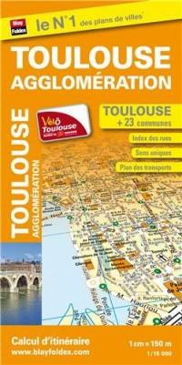 Plan de Ville Toulouse Agglomeration 1/15 000
