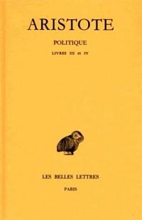 Politique, livres III à IV