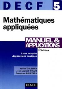 Mathématiques appliquées DECF 5 : Manuel & applications