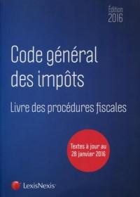 Code général des impôts & livre des procédures fiscales