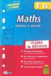 Maths Tle ES : Fiches de révision