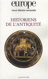 Europe, N° 945-946, Janvier- : Historiens de l'antiquité