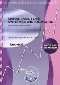 Management des Systemes d'Information Enonce - Ue 5 du Dscg (Pochette)