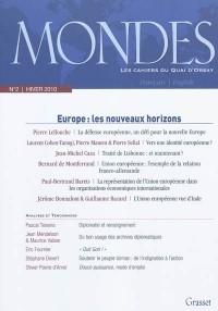 Mondes n°2 - les cahiers du quai d'Orsay