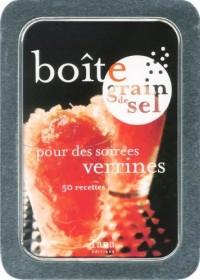 Boîte grain de sel pour des soirées verrines
