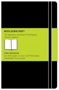 Carnet blanc - Format de poche - Couverture rigide noire - 9 x 14 cm