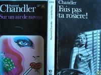 lot 3 livres raymond chandler : le dahlia bleu - fais pas ta rosiere - sur un air de navaja