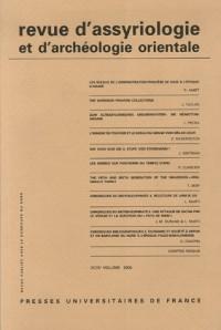 Revue d'assyriologie et d'archéologie orientale, Volume 99 :
