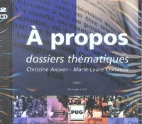 A propos, tome 1  (coffret 2 CD audio)