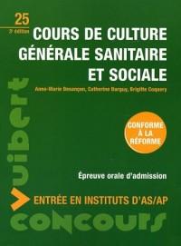 Cours de culture générale sanitaire et sociale : Entrée en instituts d'AS/AP