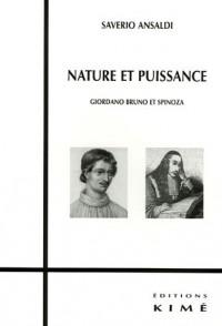 Nature et puissance : Giordano Bruno et Spinoza