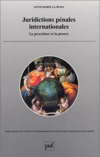 Juridictions pénales internationales : La Procédure et la preuve