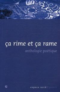 Ca rime et ça rame : Anthologie thématique des poètes francophones de Belgique