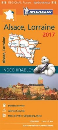 Carte Régionale 516 Alsace, Lorraine 2017
