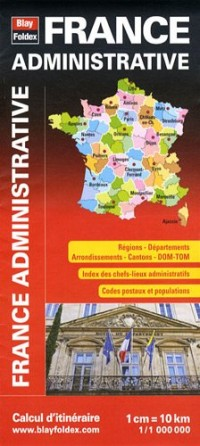 Carte de France Administrative - Régions, départements, cantons - DOM-TOM