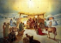 Calendrier de l'Avent Adam l'Adoration des Rois Mages